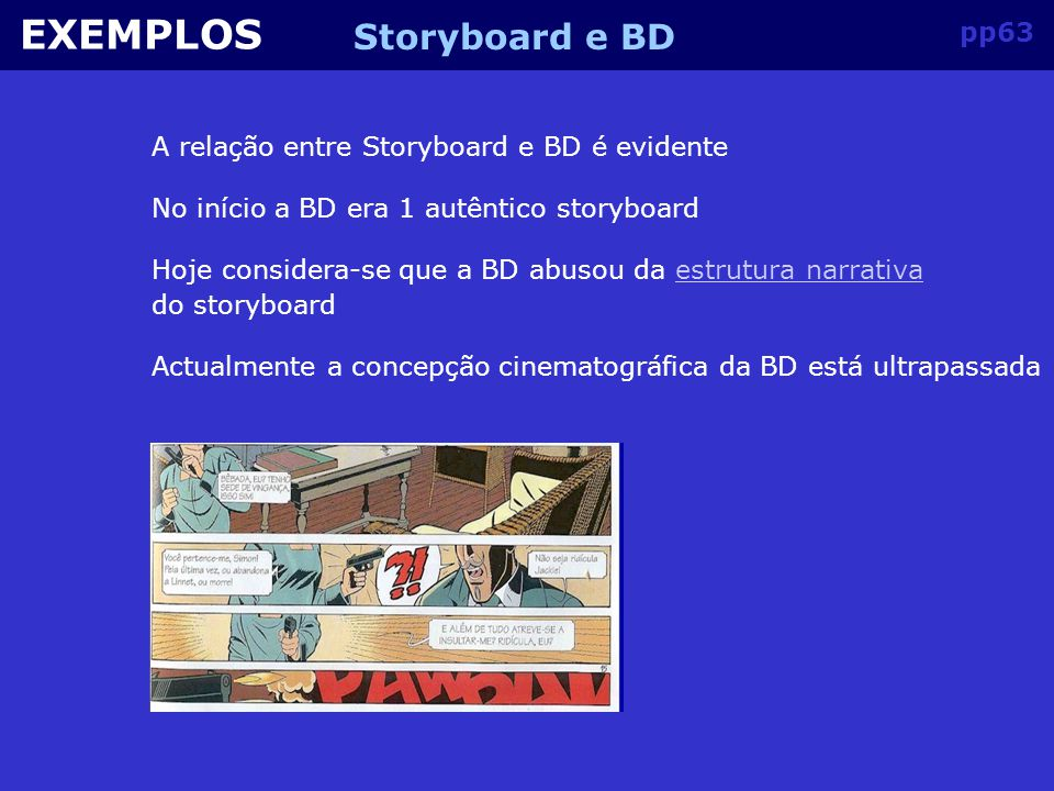 EXEMPLOS Storyboard e BD pp63