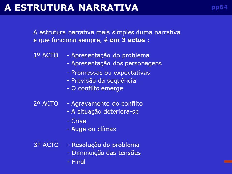 A ESTRUTURA NARRATIVA pp64
