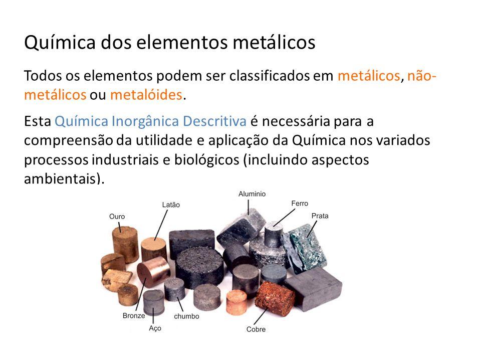 Química dos elementos metálicos