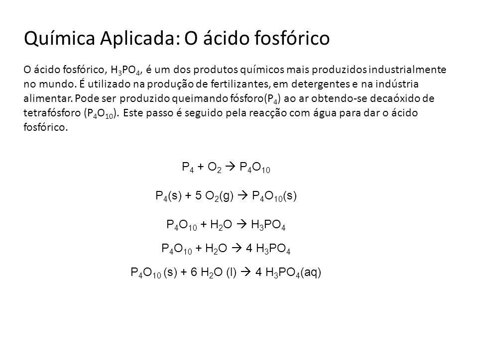Química Aplicada: O ácido fosfórico