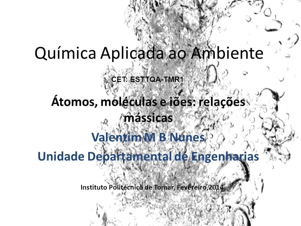 Química Aplicada ao Ambiente