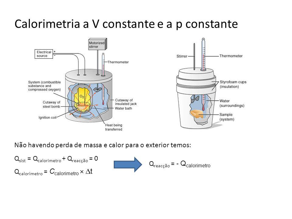 Calorimetria a V constante e a p constante