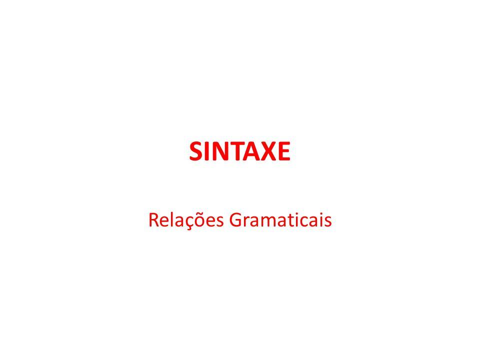 SINTAXE Relações Gramaticais