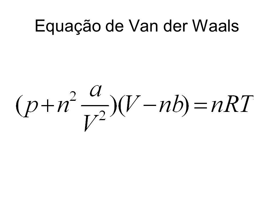 Equação de Van der Waals