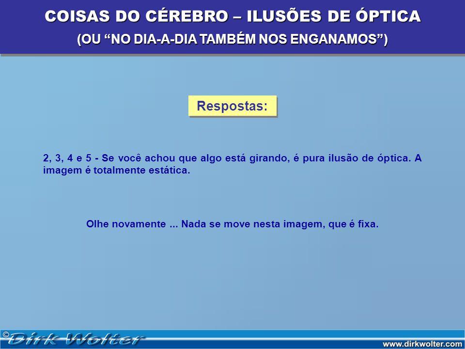 COISAS DO CÉREBRO – ILUSÕES DE ÓPTICA