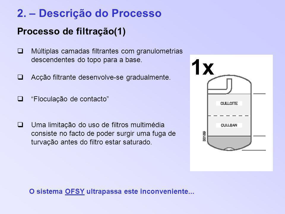 1x 2. – Descrição do Processo Processo de filtração(1)