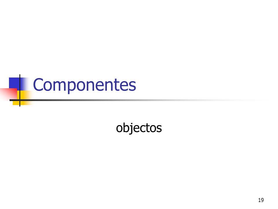Componentes objectos