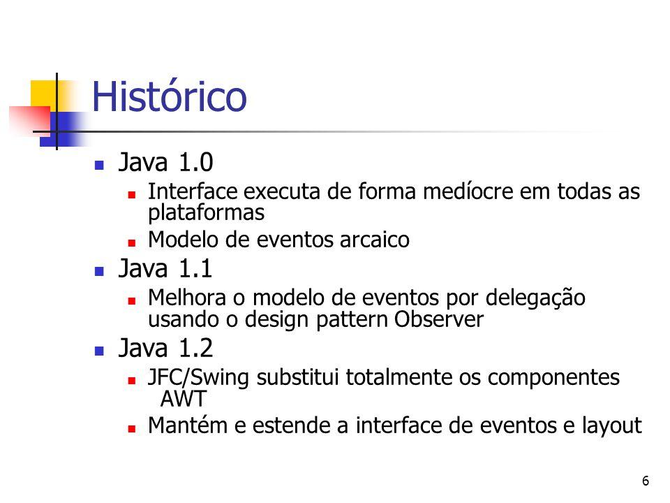 Histórico Java 1.0 Java 1.1 Java 1.2