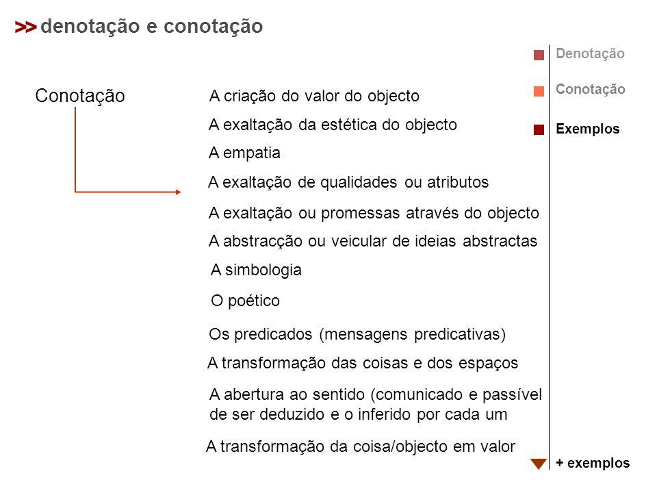 > > denotação e conotação Conotação