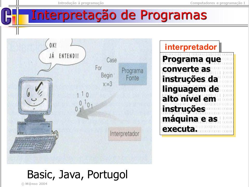 Interpretação de Programas