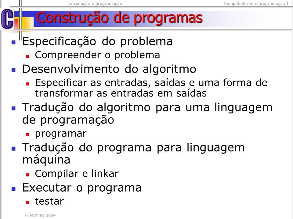 Construção de programas