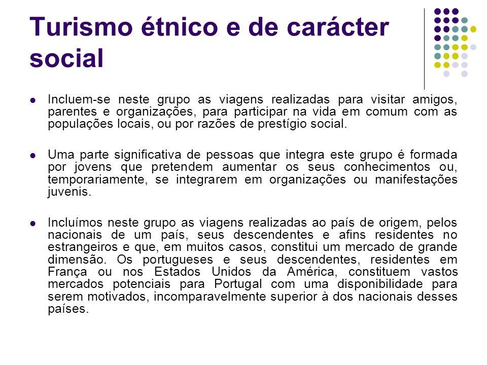 Turismo étnico e de carácter social