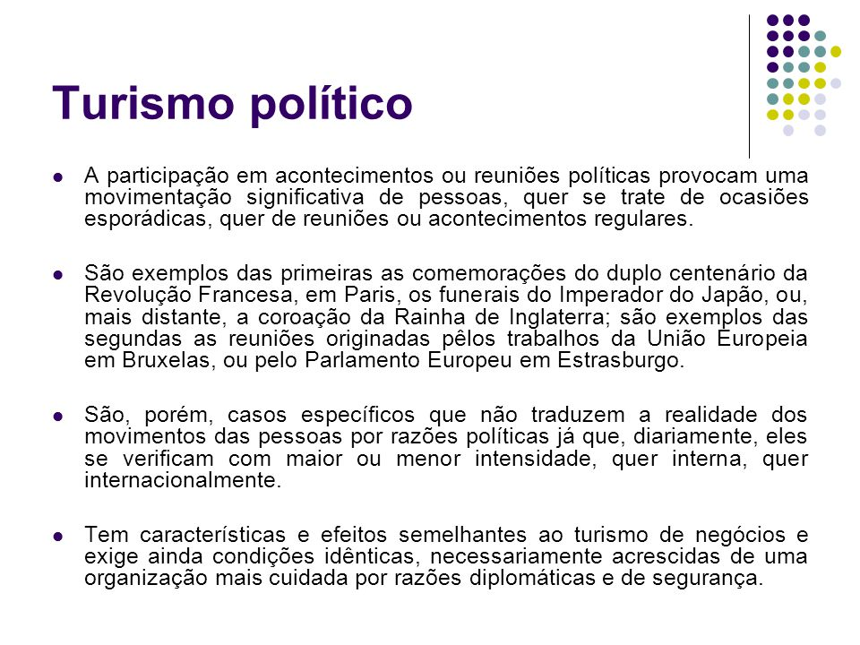 Turismo político