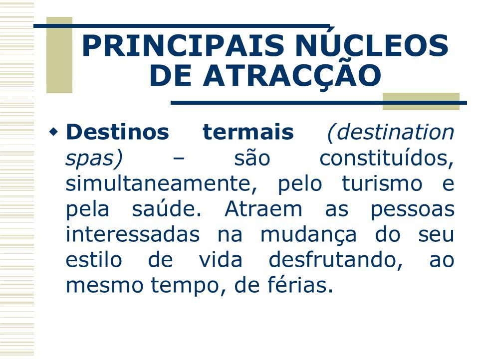 PRINCIPAIS NÚCLEOS DE ATRACÇÃO