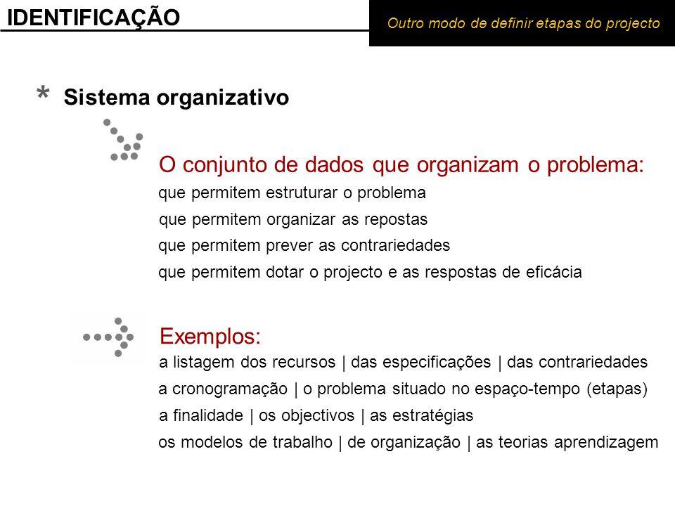 * IDENTIFICAÇÃO Sistema organizativo