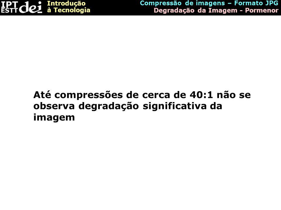 Compressão de imagens – Formato JPG