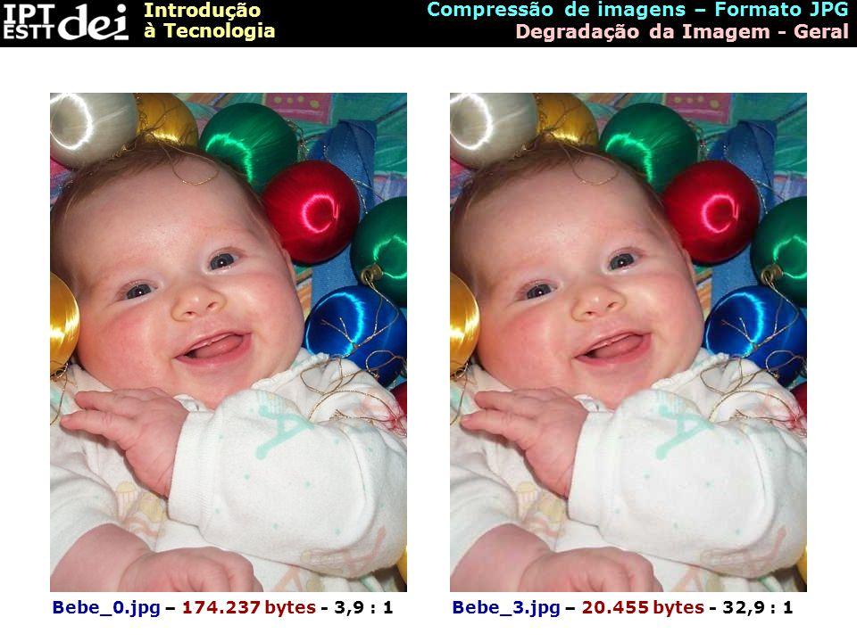 Compressão de imagens – Formato JPG Degradação da Imagem - Geral