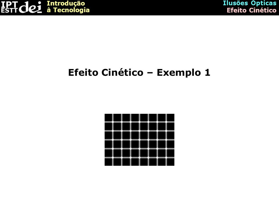 Efeito Cinético – Exemplo 1