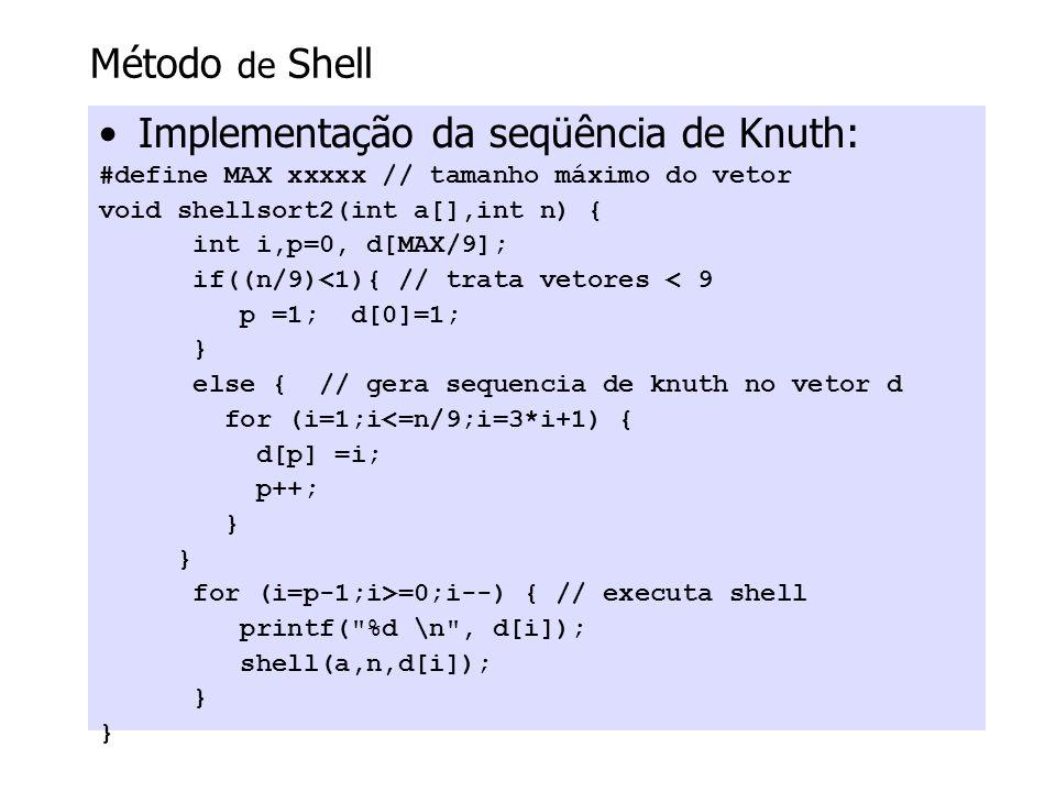 Implementação da seqüência de Knuth: