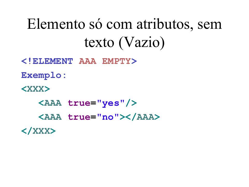 Elemento só com atributos, sem texto (Vazio)