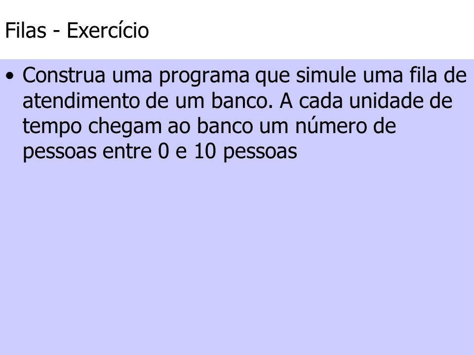 Filas - Exercício