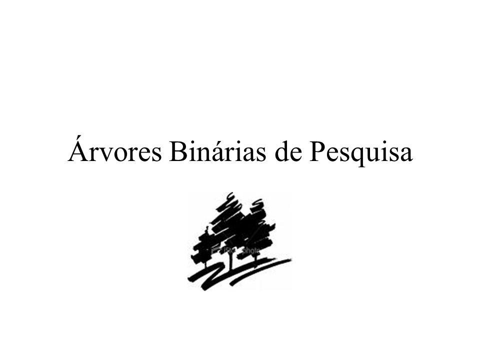 Árvores Binárias de Pesquisa