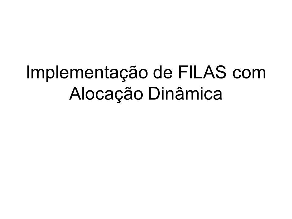 Implementação de FILAS com Alocação Dinâmica
