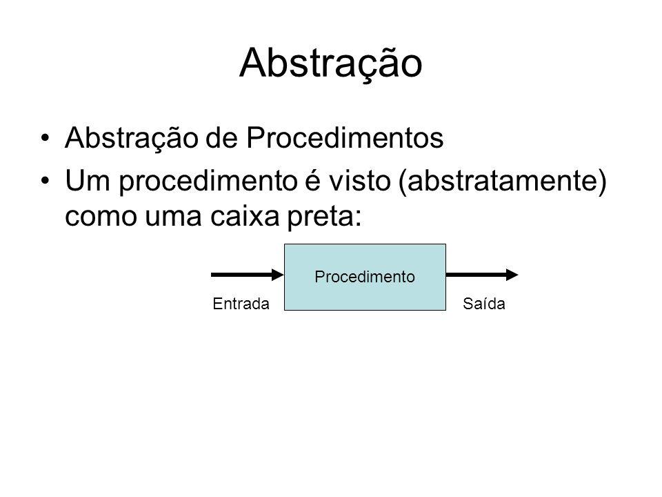 Abstração Abstração de Procedimentos