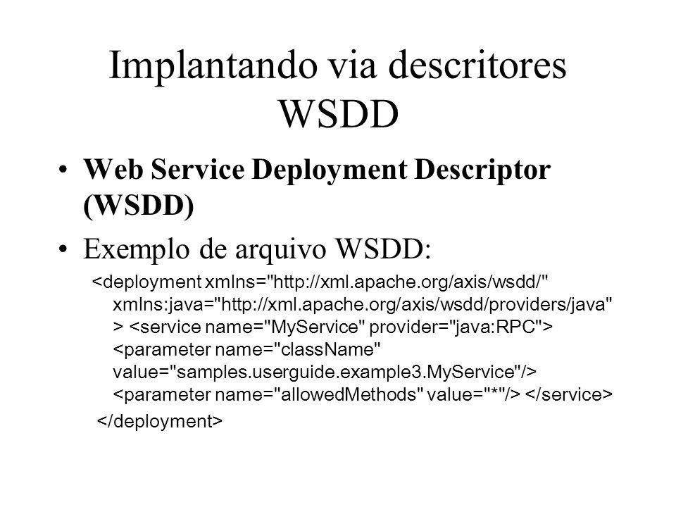 Implantando via descritores WSDD