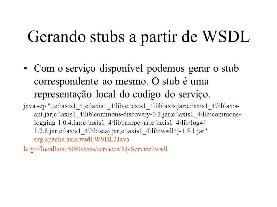 Gerando stubs a partir de WSDL