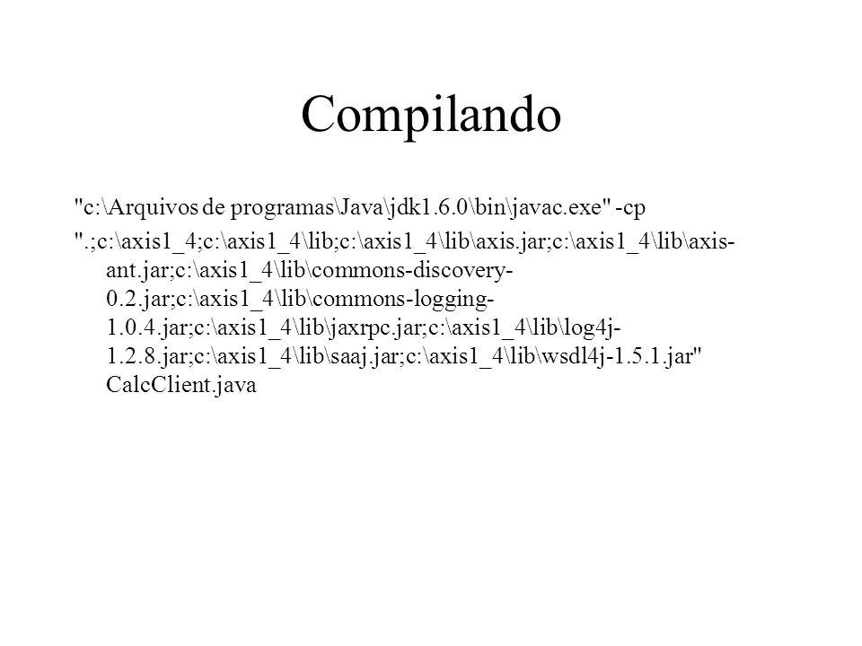 Compilando c:\Arquivos de programas\Java\jdk1.6.0\bin\javac.exe -cp