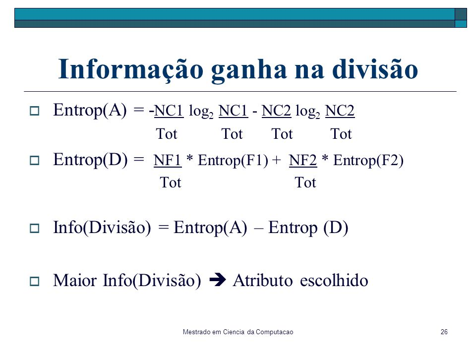 Informação ganha na divisão