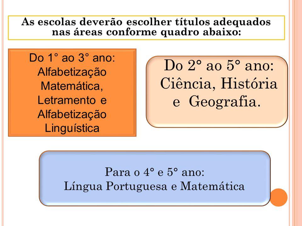 Ciência, História e Geografia.