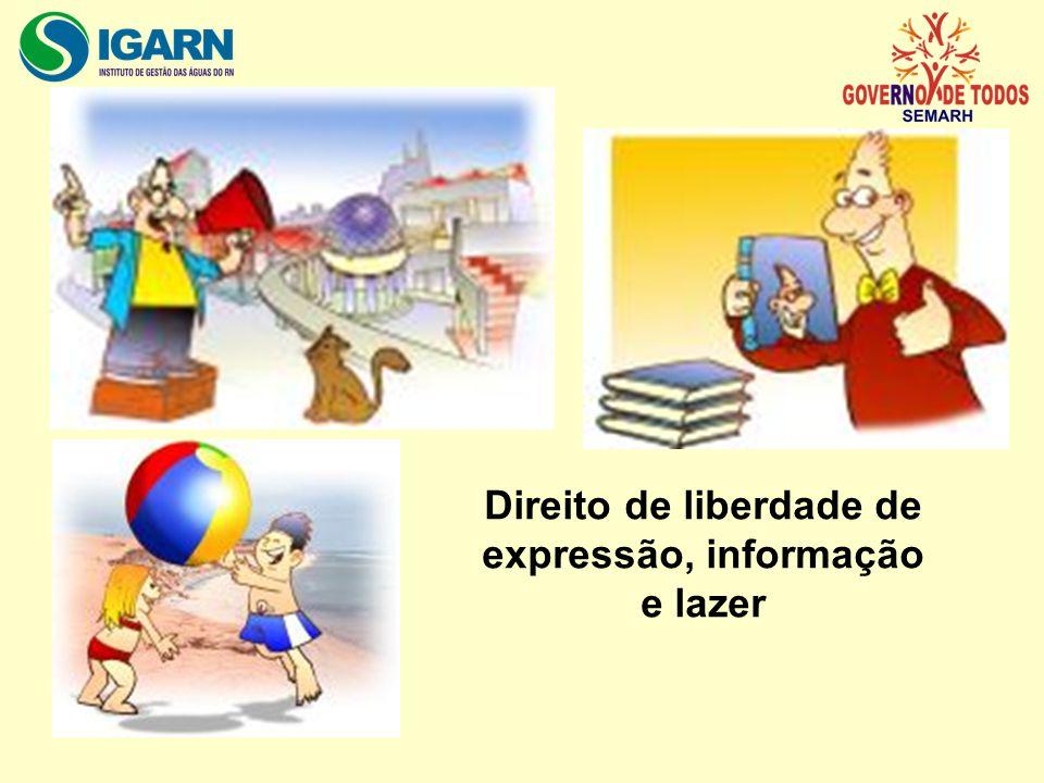 Direito de liberdade de expressão, informação e lazer
