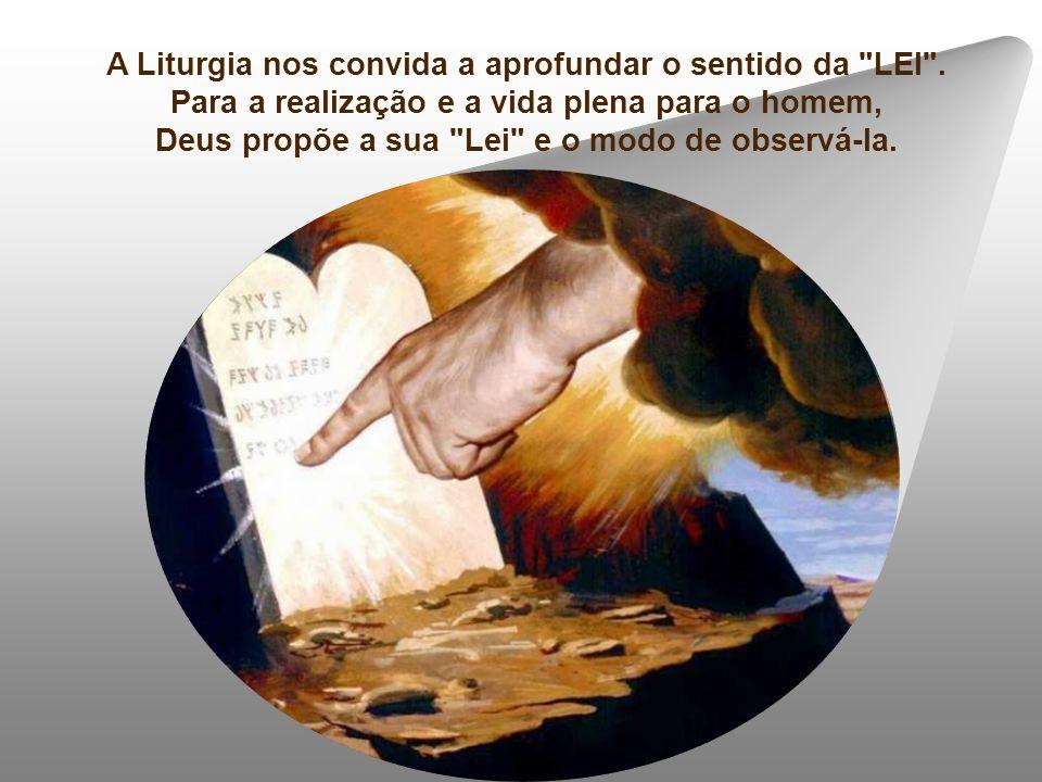 A Liturgia nos convida a aprofundar o sentido da LEI .