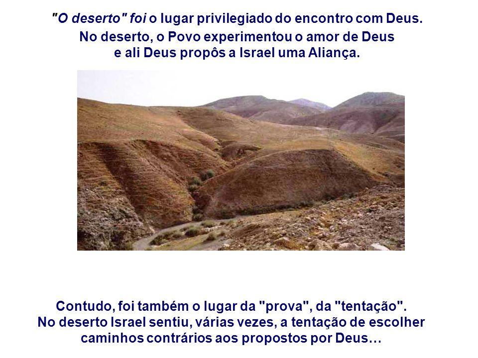 O deserto foi o lugar privilegiado do encontro com Deus.