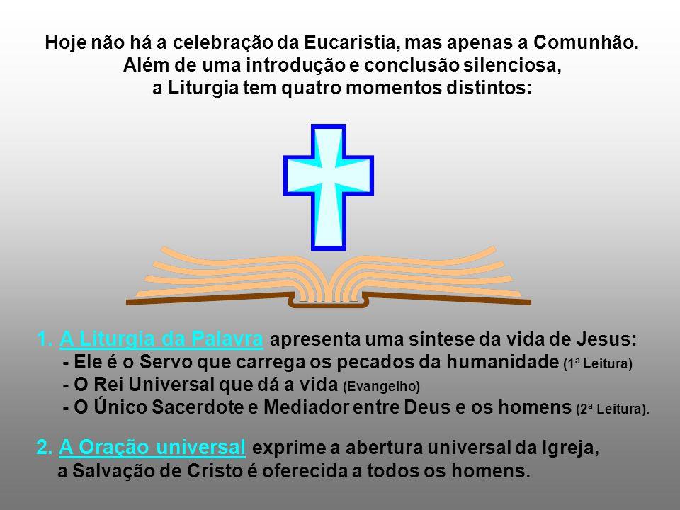 1. A Liturgia da Palavra apresenta uma síntese da vida de Jesus: