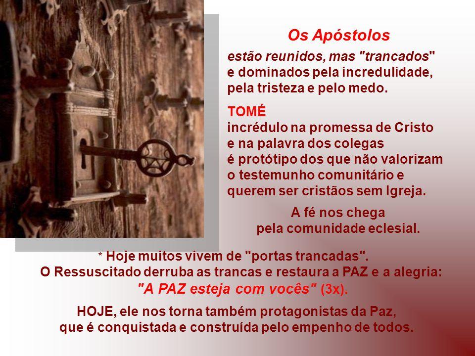 Os Apóstolos A PAZ esteja com vocês (3x).