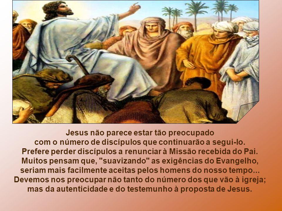 Jesus não parece estar tão preocupado