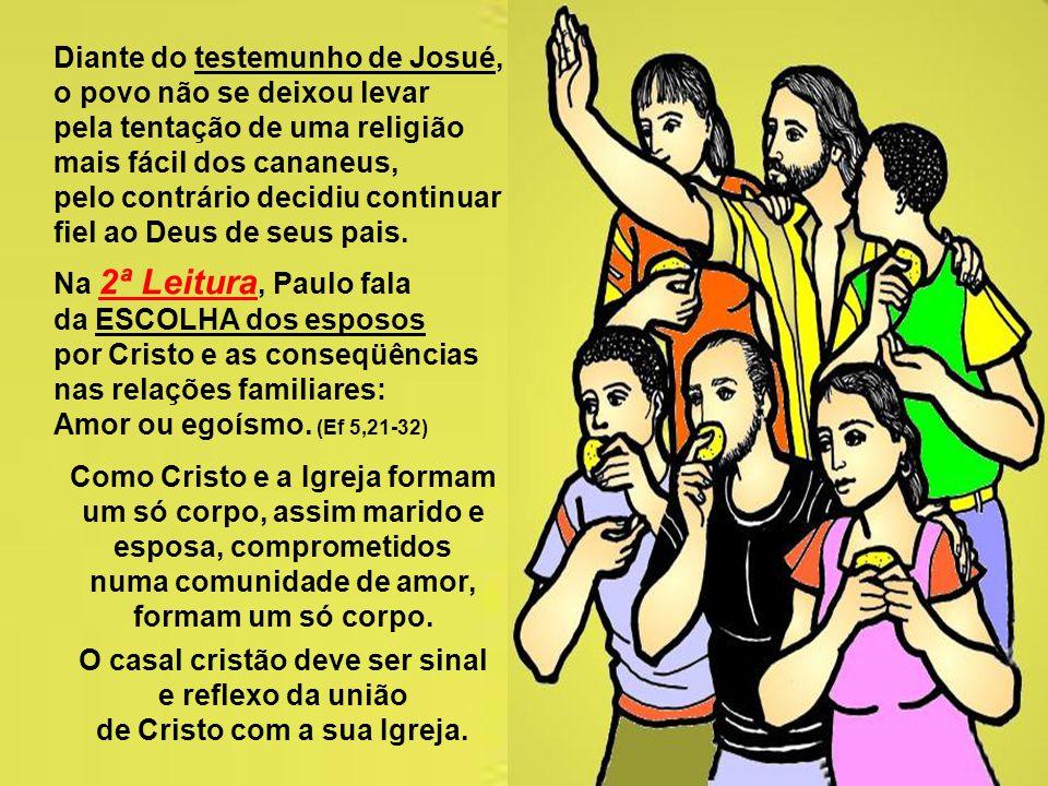 Diante do testemunho de Josué, o povo não se deixou levar