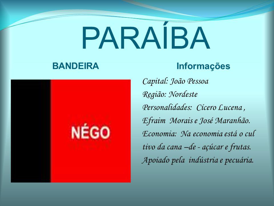 PARAÍBA BANDEIRA Informações