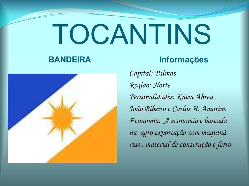 TOCANTINS BANDEIRA Informações