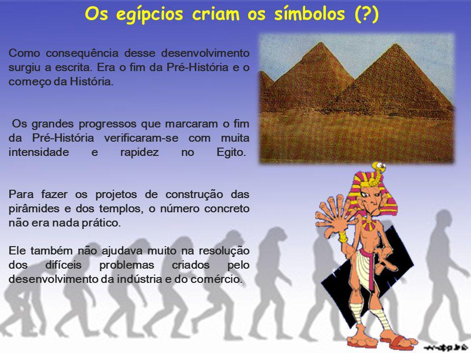 Os egípcios criam os símbolos ( )