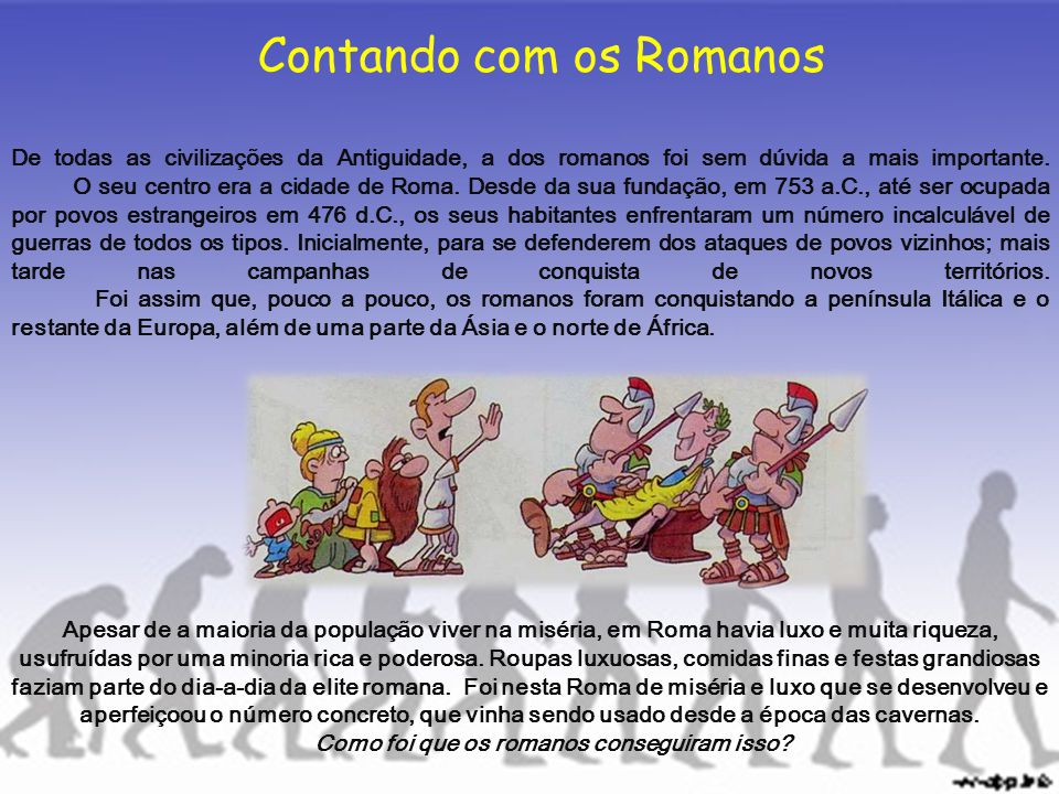 Contando com os Romanos