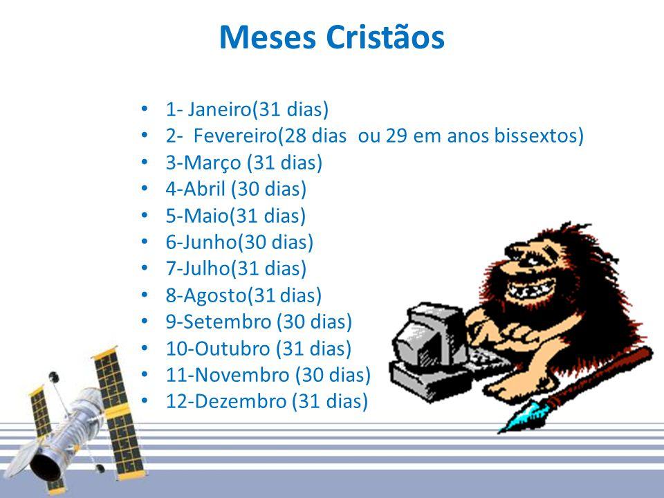 Meses Cristãos 1- Janeiro(31 dias)
