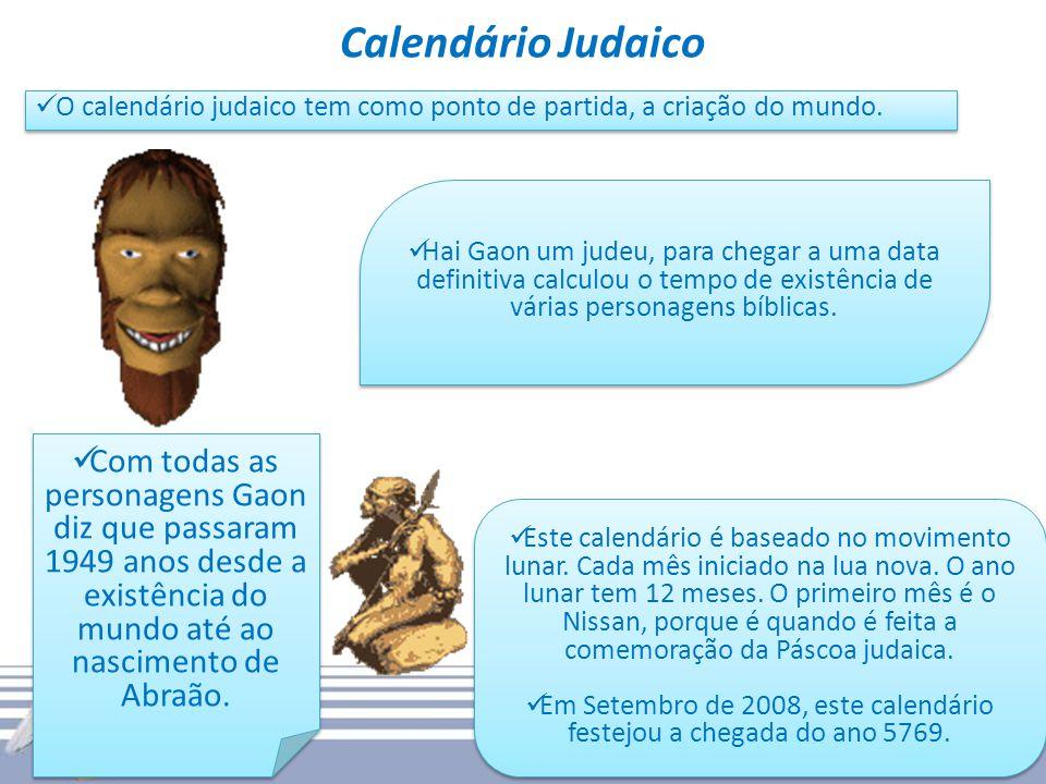 Em Setembro de 2008, este calendário festejou a chegada do ano 5769.