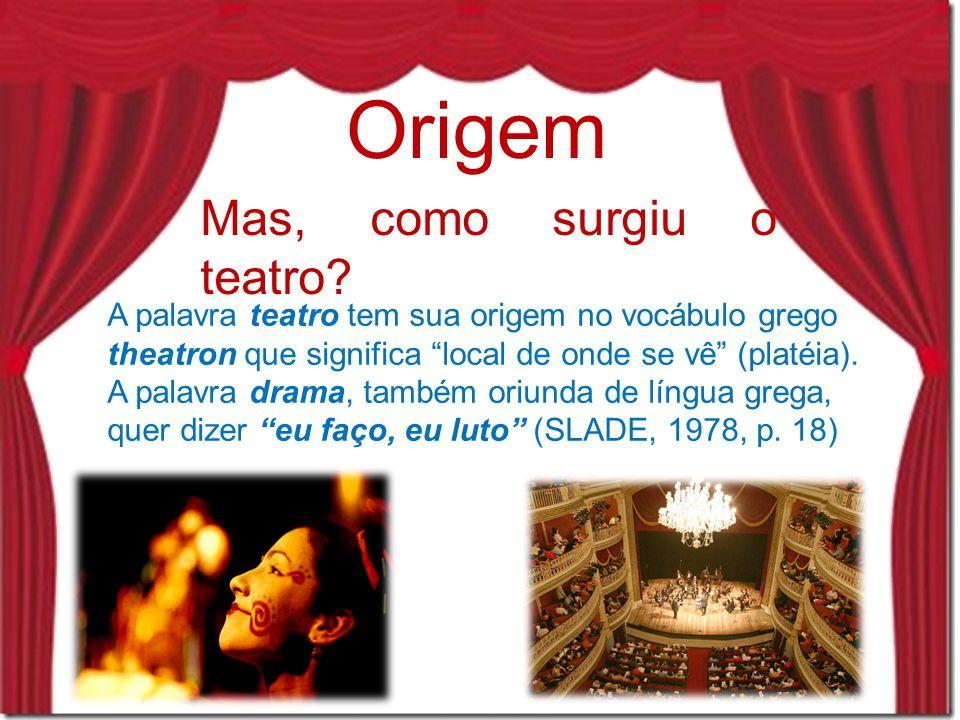 Origem Mas, como surgiu o teatro