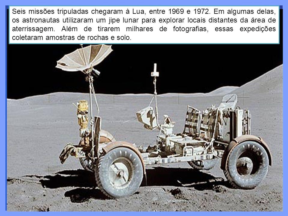 Seis missões tripuladas chegaram à Lua, entre 1969 e 1972