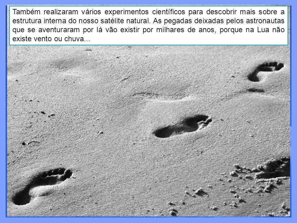Também realizaram vários experimentos científicos para descobrir mais sobre a estrutura interna do nosso satélite natural.