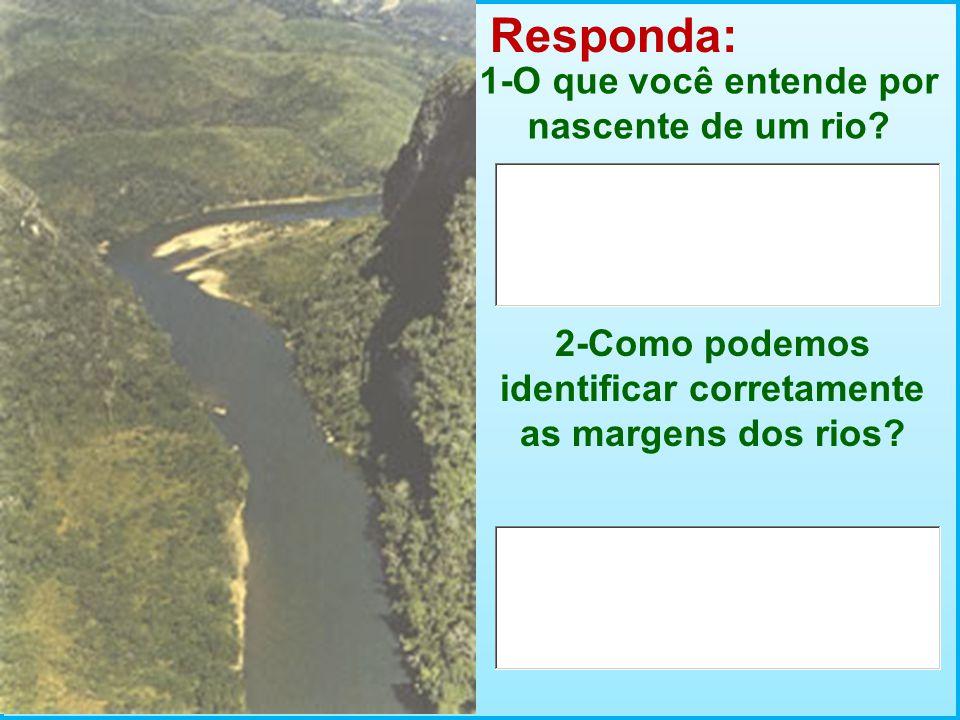 Responda: 1-O que você entende por nascente de um rio